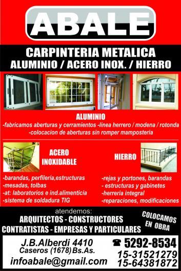 Abale en caseros tel fono y m s info for Carpinterias de aluminio en argentina