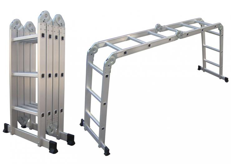 Fabrica de escaleras aluminio escaleras aluminio for Escalera aluminio plegable articulada precio