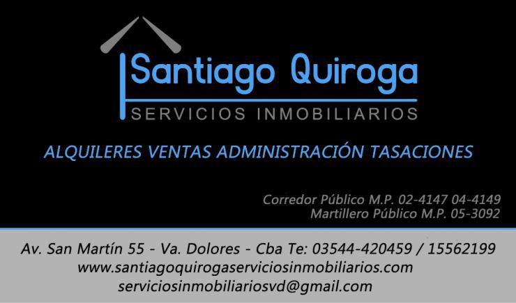 Santiago Quiroga Servicios Inmobiliarios En Villa Dolores
