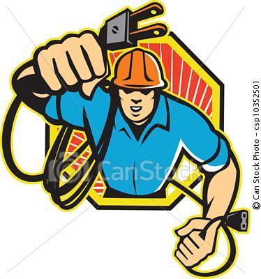 Electricidad Domiciliaria on Construction General Contractor Logos