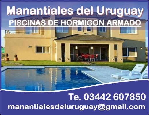 Piscinas manantiales del uruguay en concepci n del uruguay for Construccion de piscinas en uruguay
