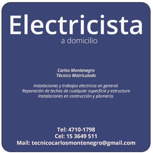 Carlos montenegro electricista en san isidro tel fono y - Electricista a domicilio ...